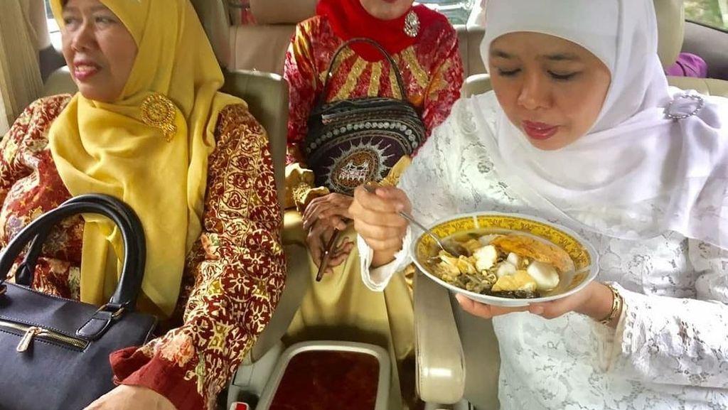 Khofifah Indar Parawansa Ternyata Doyan Ngopi dan Makanan Tradisional