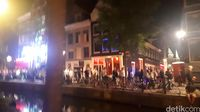 Suasana di Red Light District Amsterdam (Afif Farhan/detikTravel)