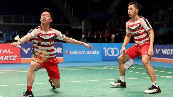Kevin Sanjaya Sukamuljo/Marcus Fernaldi Gideon lolos ke perempatfinal Malaysia Terbuka (Foto: Tim Humas Dan Media PP PBSI)