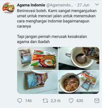 Viral! Akun Twitter 'Agama Indomie' yang Bikin Ngakak Netizen