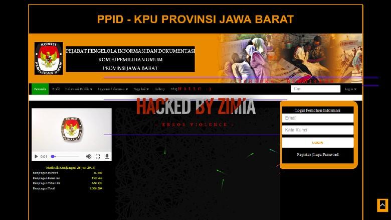 Situs KPU Jabar Di-hack, Muncul Lagu Via Vallen