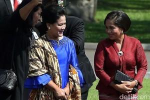Ibu Negara Kompak Berbusana Daerah dengan Istri Presiden Timor Leste