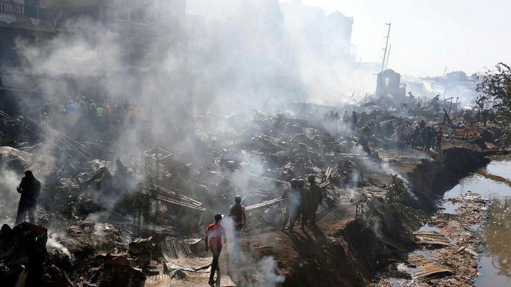 15 Orang Tewas dalam Kebakaran di Pasar Kenya
