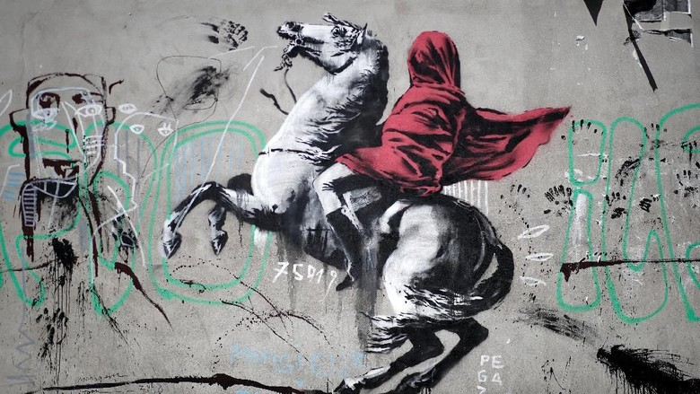 Banksy Kini Menginvasi London  Foto: Dok