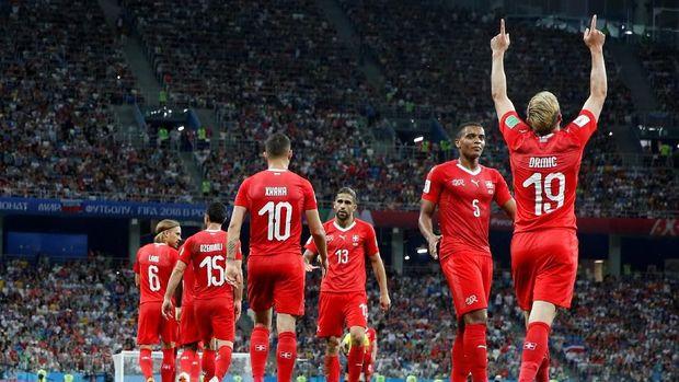 Timnas Swiss juga punya permainan yang bagus di Piala Dunia 2018.