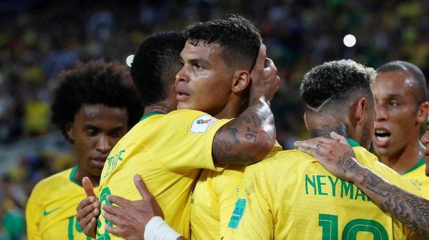 Timnas Brasil selalu melaju ke babak perempat final pada enam Piala Dunia terakhir.
