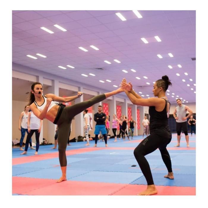 Sama seperti Lewandowski, Anna juga seorang berkebangsaan Polandia yang memulai karir sebagai atlet karate. Foto: Instagram/annalewandowskahpba