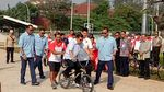 Foto: Gaya JK-Anies Jajal BMX di Venue Asian Games