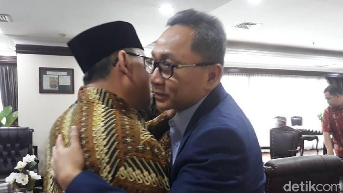 Foto: Sudirman Said temui Zulkifli Hasan di DPR (Tsarina/detikcom)