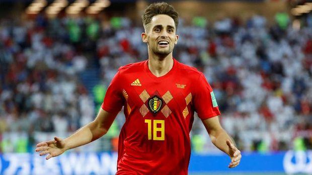 Adnan Januzaj mencetak gol kemenangan Belgia atas Inggris.