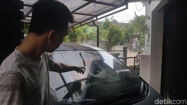 Korban pelemparan batu di Tol Tangerang, Jumat (29/6/2018)