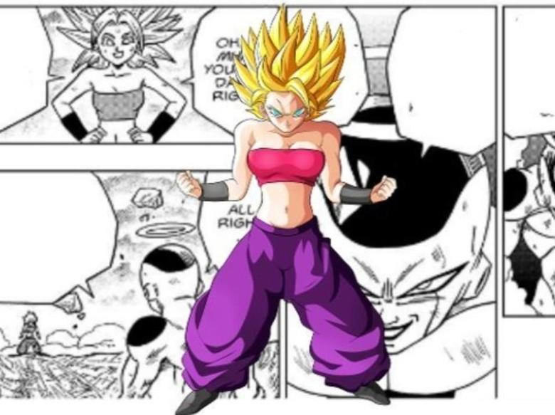 Kontroversi Kekuatan Saiyan Caulifla di Manga Dragon Ball Super Foto: Istimewa