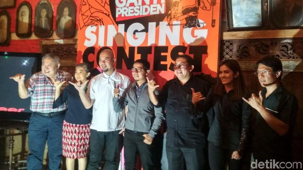 Ahmad Dhani Gelar Kontes Nyanyi #2019GantiPresiden