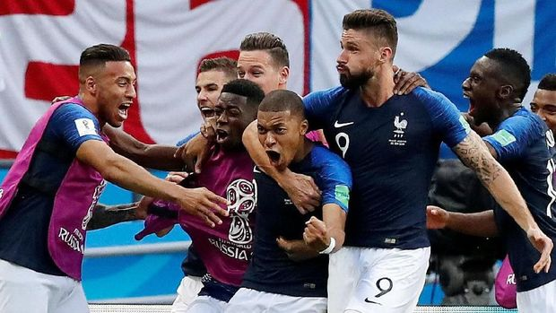 Timnas Prancis akan menghadapi Uruguay di babak perempat final Piala Dunia 2018.