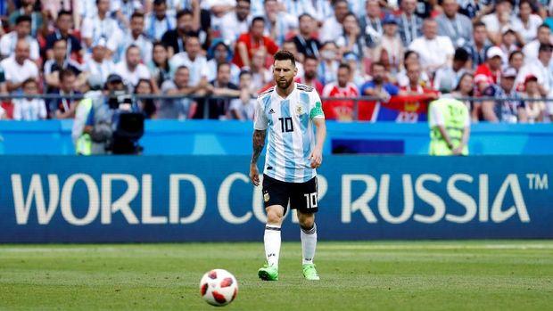 Lionel Messi tak mampu meraih gelar Piala Dunia bersama timnas Argentina.