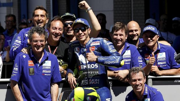 Valentino Rossi hanya ada di posisi ke-10 di sesi latihan bebas kedua.