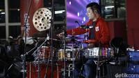 Echa jadi salah satu yang tampil di Kumpul Indonesian Drummer x detikcom yang digelar di Kuningan City, Jakarta Selatan, Sabtu (30/6/2018). Foto: Asep Syaifullah