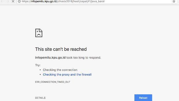 Situs KPU dan Hasil Pilkada Serentak <i>Down<i/>
