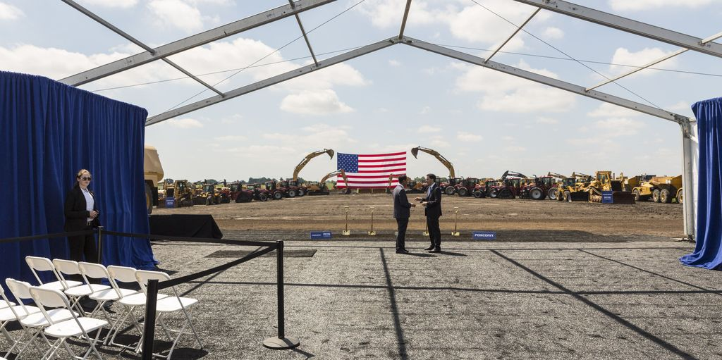 Pabrik baru Foxconn ini berlokasi di Mount Pleasant, Wisconsin, Amerika Serikat. Foto: Andy Manis/Getty Images
