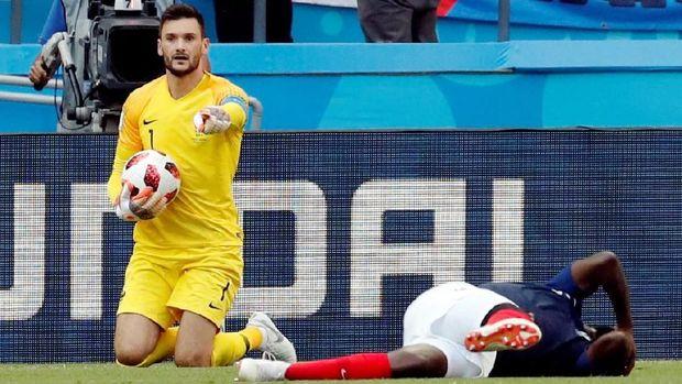 Hugo Lloris mencatat tiga clean sheet di Piala Dunia 2018.