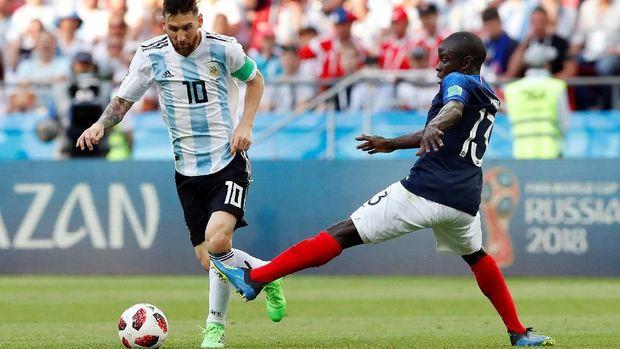 Timnas Argentina disingkirkan Prancis di babak 16 besar Piala Dunia 2018. (