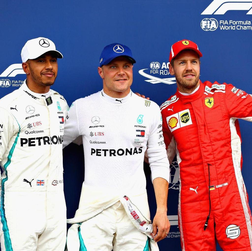 Bottas Terdepan, Mercedes Start 1-2