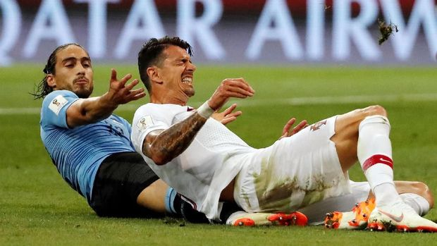 Lini belakang Uruguay baru kebobolan satu gol di Piala Dunia 2018.