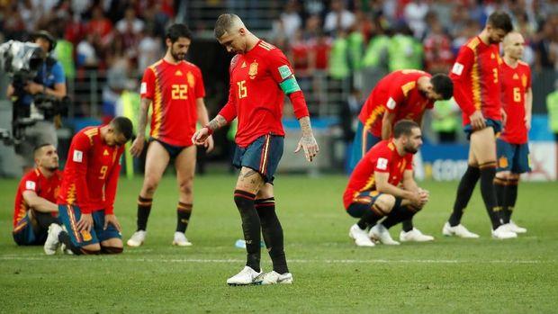 Sergio Ramos gagal mengantar timnas Spanyol lolos ke fase gugur di Piala Dunia 2018.