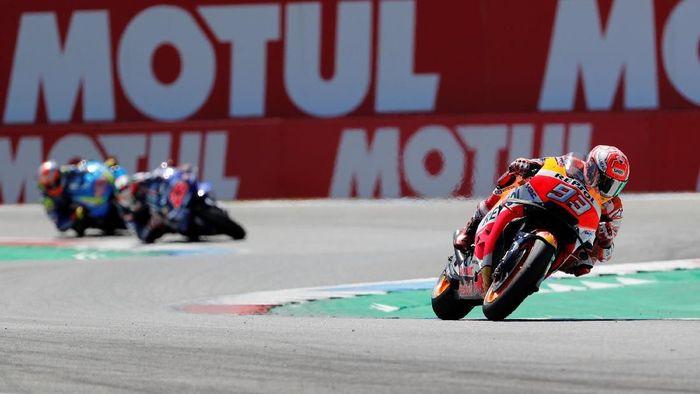 Marc Marquez juara MotoGP Belanda (Foto: Yves Herman/Reuters)
