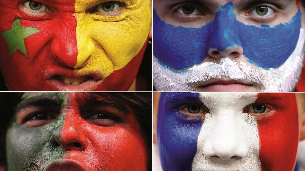 Nyentrik Banget, Potret Face Paint Suporter di Piala Dunia 2018 (2)