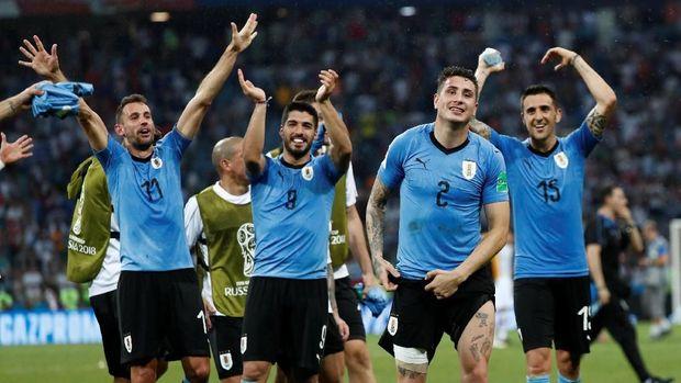 Timnas Uruguay mampu tampil bagus di babak 16 besar.