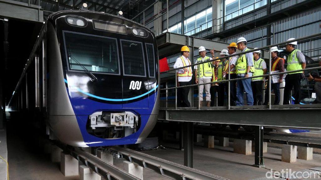 Menhub Pantau Pembangunan Depo MRT di Lebak Bulus