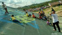 Terbengkalai, Sirkuit BMX eks PON Jabar di Ciamis Jadi Perosotan