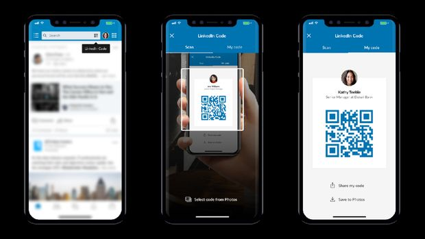 QR Code LinkedIn Bisa Jadi Kartu Nama Digital