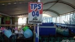 Coblosan Ulang TPS di Kediri Bagikan Doorprize