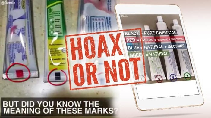 Hoax kode warna pada kemasan pasta gigi. Foto: detikcom