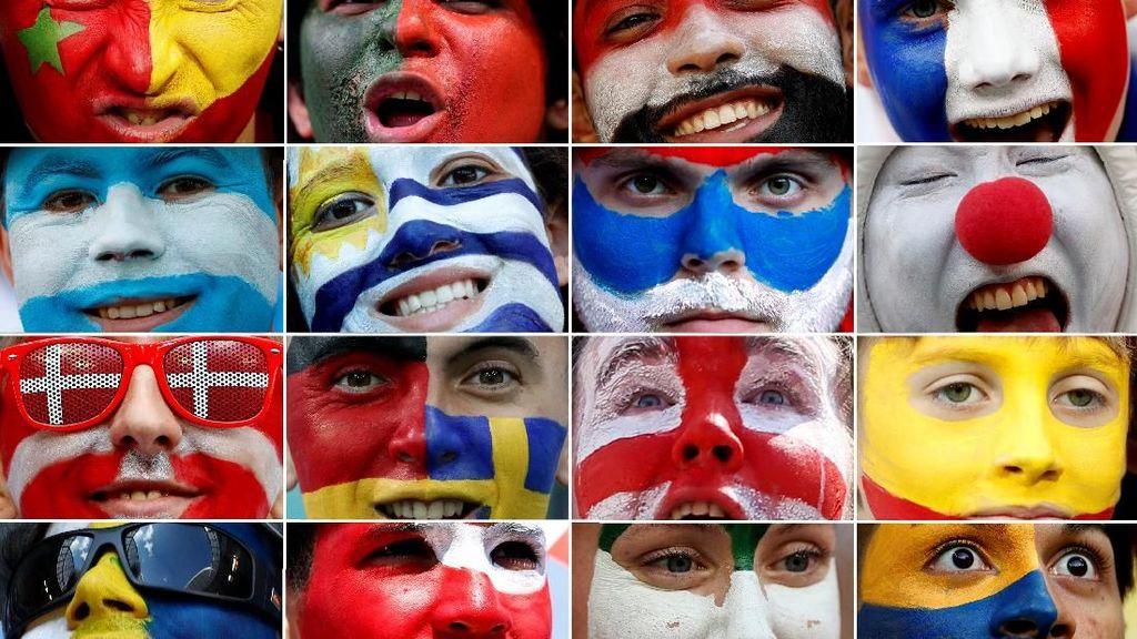 Nyentrik Banget, Potret Face Paint Suporter di Piala Dunia 2018 (1)