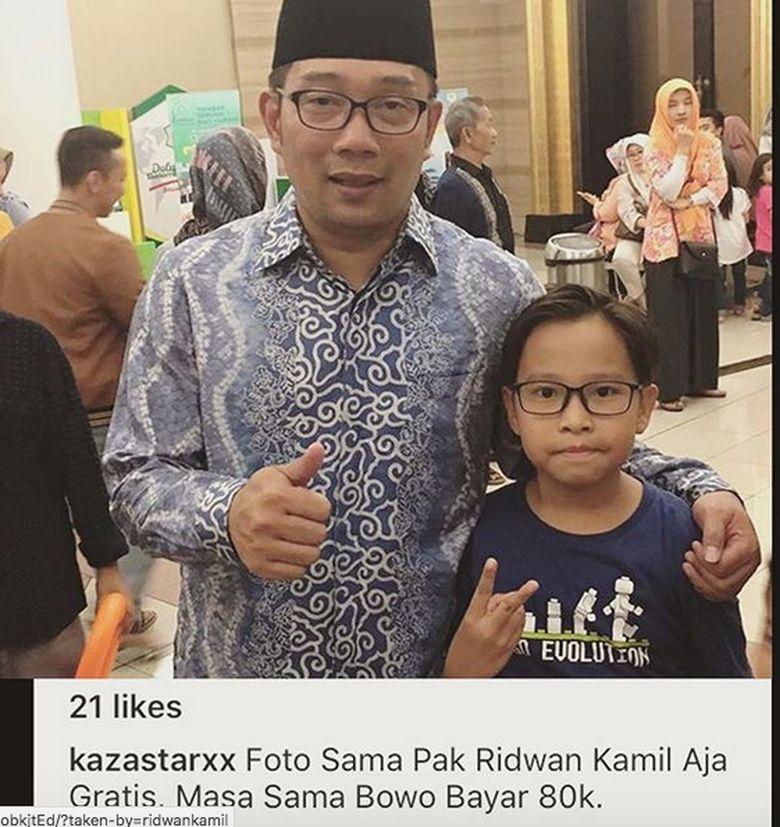 Postingan Ridwan Kamil yang membuat Bowo jadi sorotan dan sempat ramai akibat dikira Prabowo. Dok. Instagram