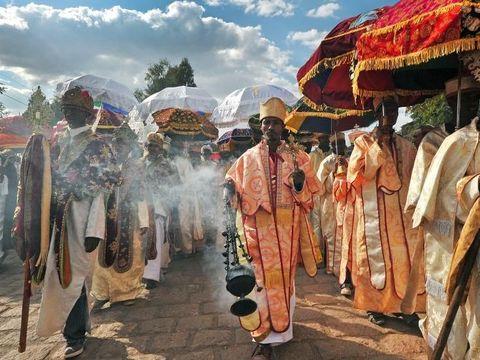 Perayaan Paskah kristen orthodoks Ethiopia (AFP)