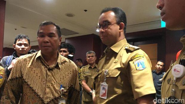 Gubernur DKI Jakarta Anies Baswedan menghadiri pengukuhan pengurus Asosiasi Pemerintah Provinsi Seluruh Indonesia (APPSI), Senin (2/7/2018)