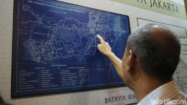 Ilustrasi peta Batavia tahun 1826 (Randy/detikTravel)