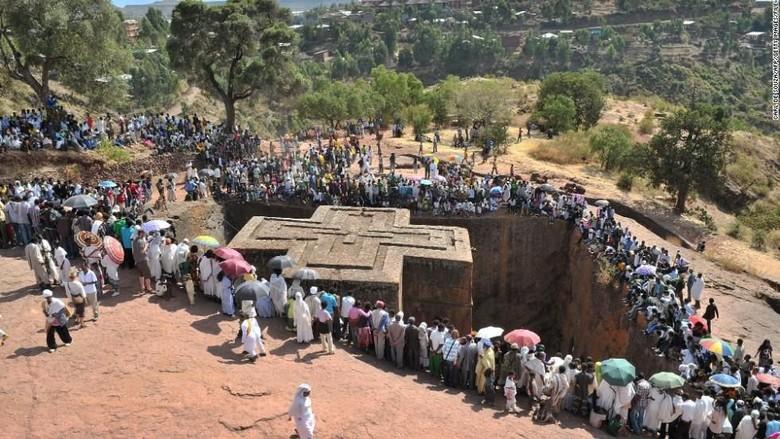 Foto: Gereja Santo Giorgis di Ethiopia (AFP/CNN)