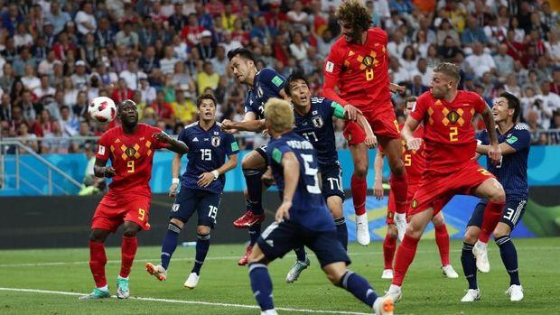 Timnas Jepang kalah 2-3 secara dramatis dari Belgia di 16 Besar Piala Dunia 2018.