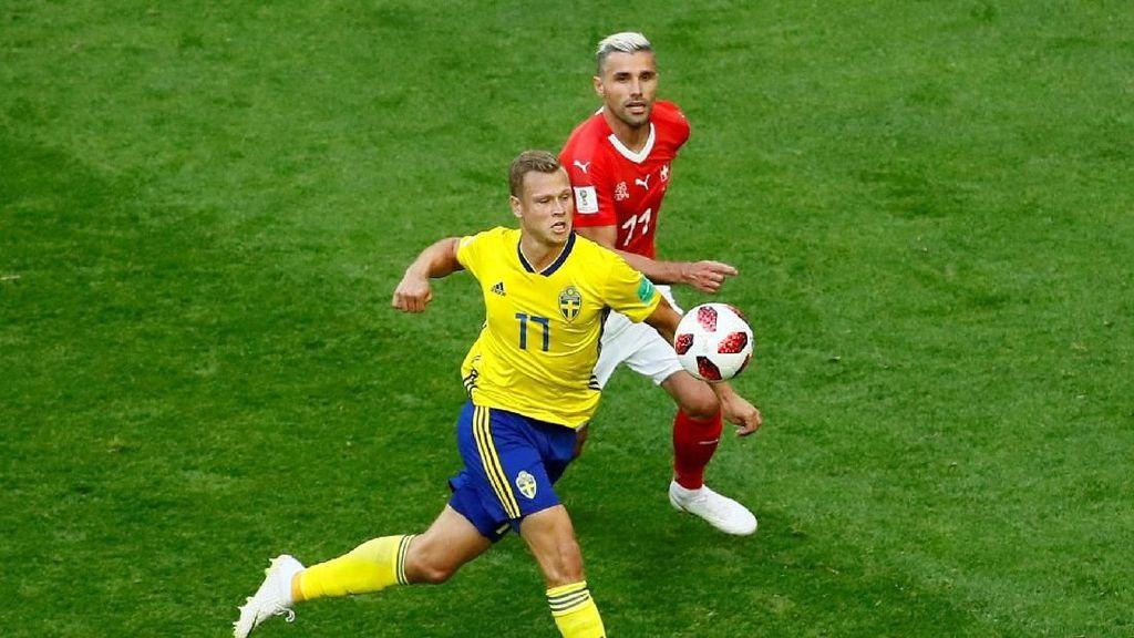 Buntu, Swedia vs Swiss Imbang Tanpa Gol di Babak Pertama