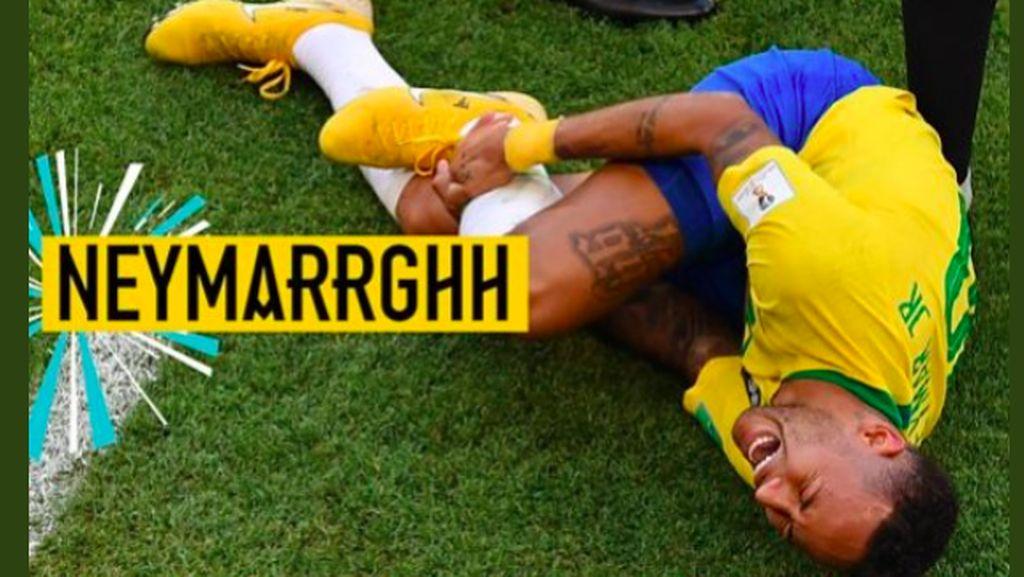 Aksi Guling-guling Neymar Disulap Jadi Kocak