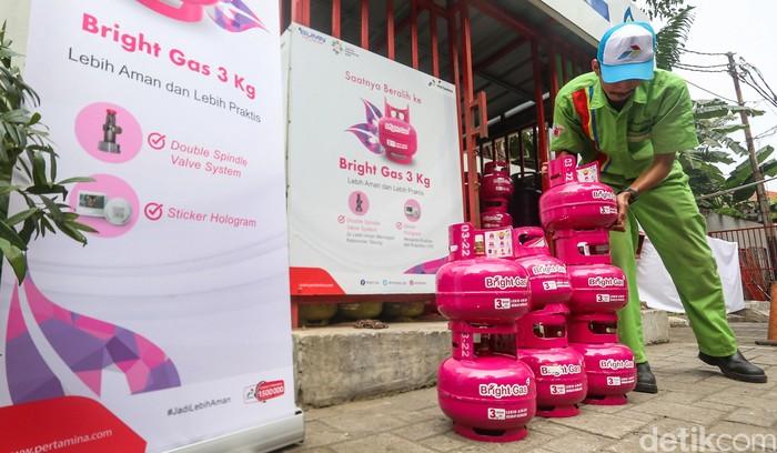 PT Pertamina (Persero) uji pasar Bright Gas 3 kiloan hari ini, Selasa (03/7/2018). Uji pasar ini dilakukan lebih dulu di Jakarta sebelum ke daerah lainnya.