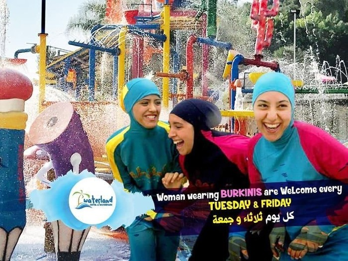 Burkini Day di resort Lebanon jadi kontroversi. Foto: Instagram/Waterland