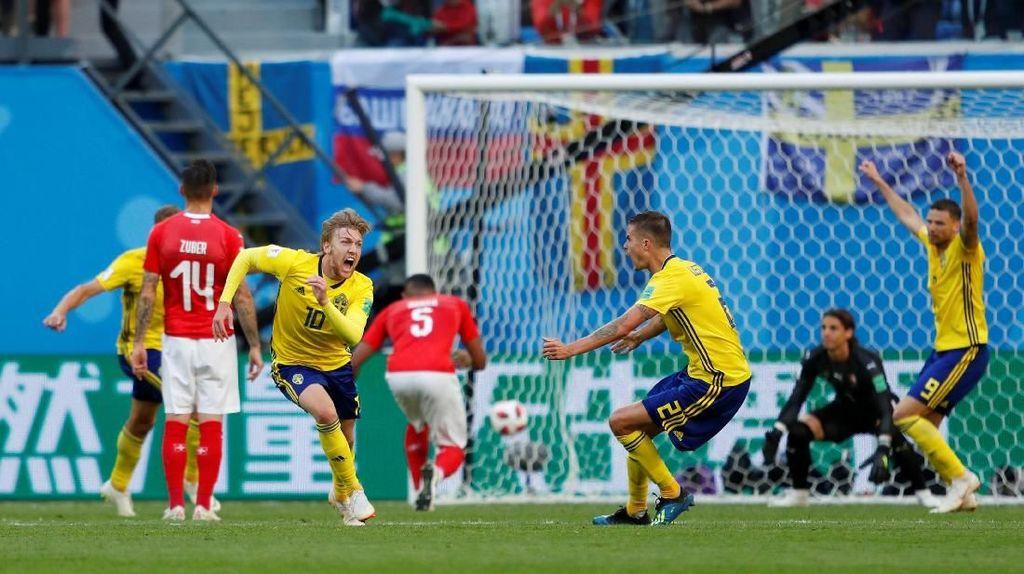 Menang Tipis atas Swiss, Swedia Melangkah ke Perempatfinal