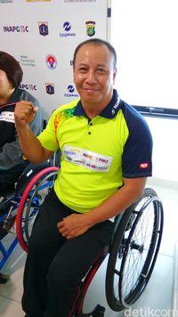 Sosok Agus Susanto, difabel yang akan berlaga di Asian Para Games 2018 pada cabang olahraga tenis meja.