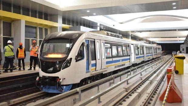 Finish, LRT Palembang Telah Melintasi Seluruh Stasiun